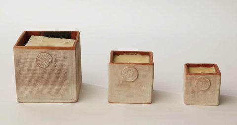 Coldpiece Pottery Cube Candles