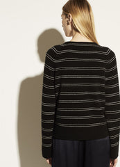 Vince Railroad Stripe LS