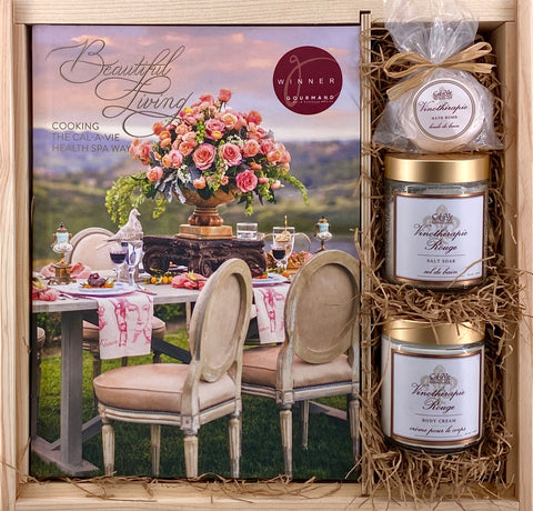 Beautiful Living Cookbook & Vinotherapie Gift Set