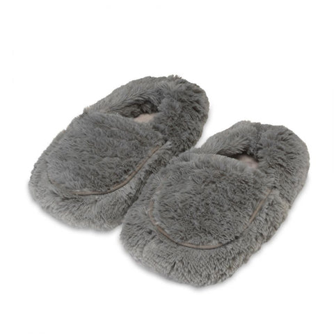 Warmies Microwavable Grey Slippers