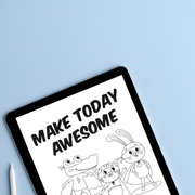 Make Today Awesome - Take Charge of Anxiety Digital Download