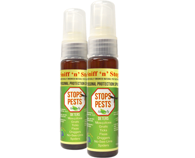 2x Sniff'n'Stop Personal Pest Protection Sprays