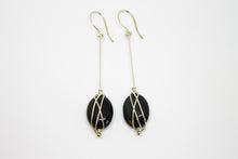 Load image into Gallery viewer, Obsidian silver earrings