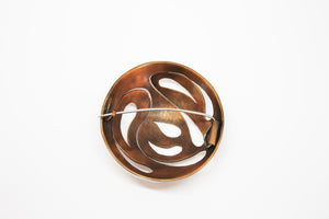 Happiness brooch copper