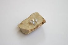 Load image into Gallery viewer, Moonstone drop silver stud earrings