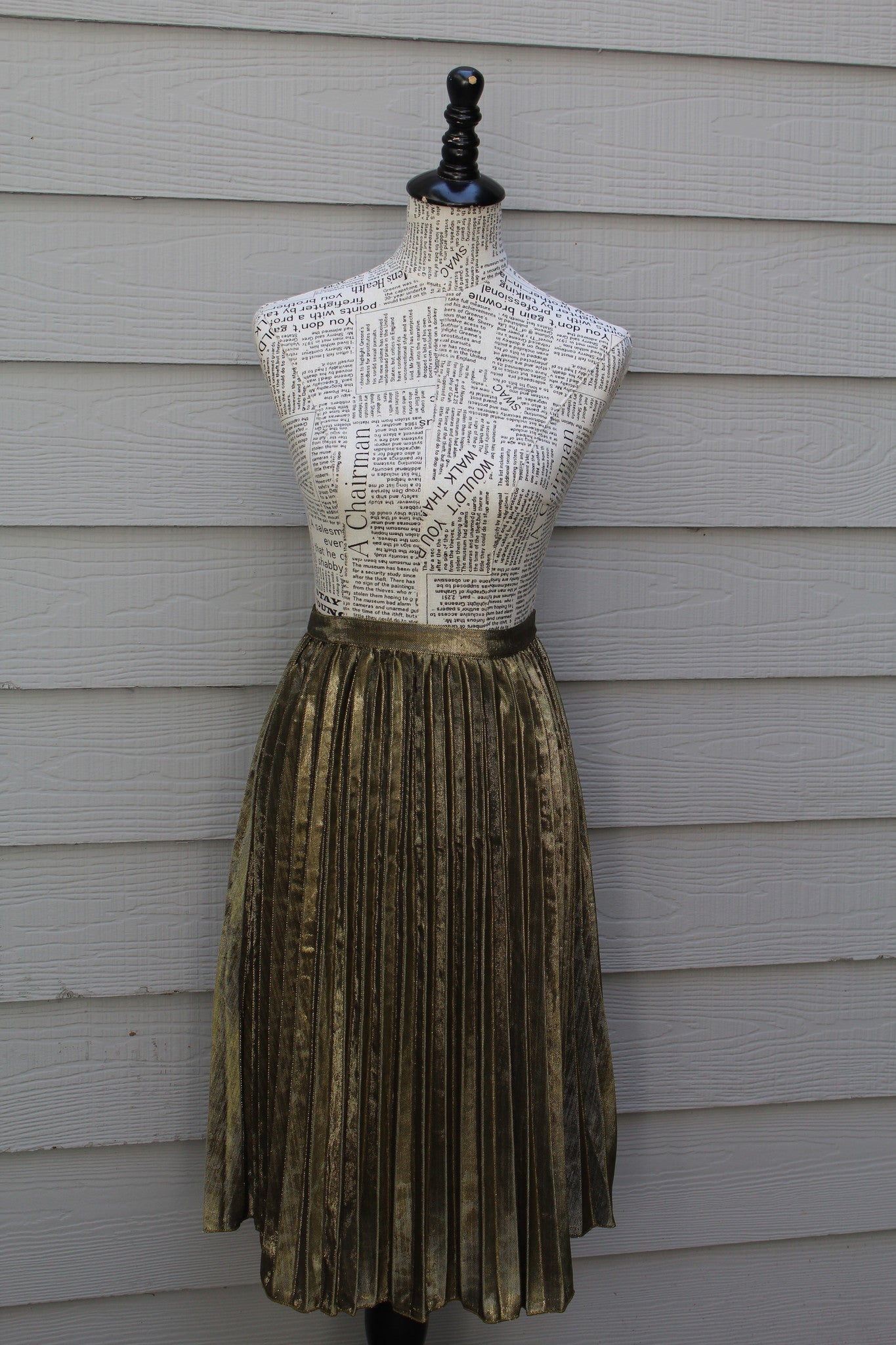 Marlo Gold Pleated Skirt