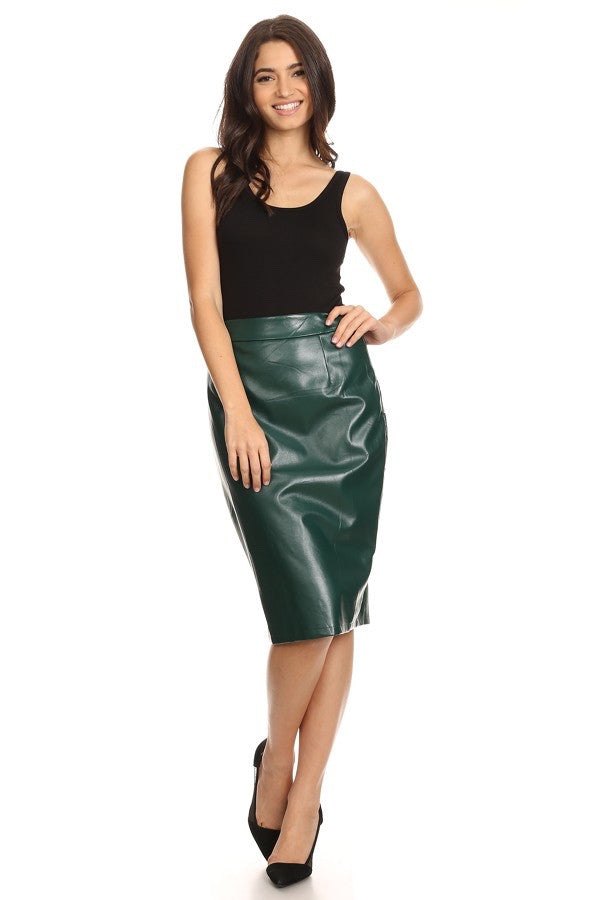 Minerva Faux Leather Skirt