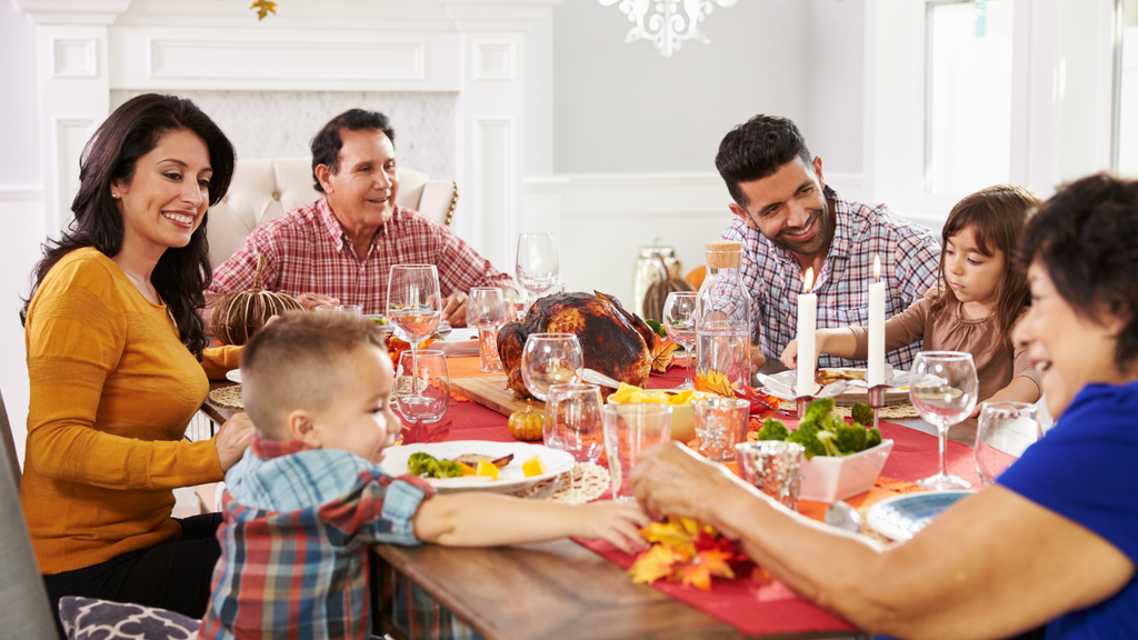 Thanksgiving dinner photo placeholder for thanksgiving writing assignment idea, what are you thankful for