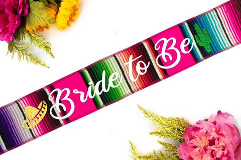 Mexican final fiesta themed bachelorette party sash for bride
