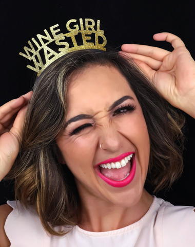 Wine Girl Wasted Sex & the City Bachelorette Party Crown