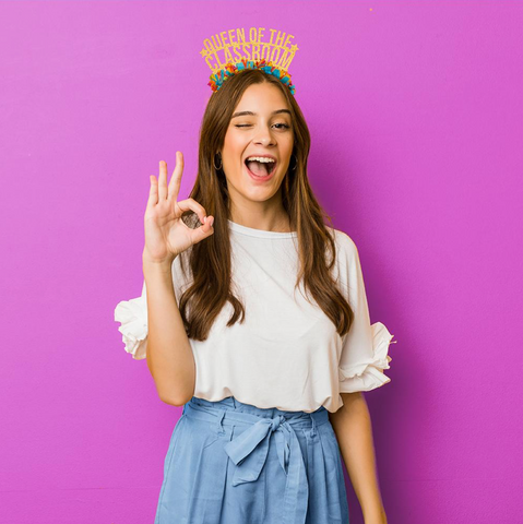 Back to school Ideas Queen of The Classroom Party Crown