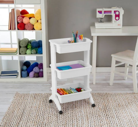 Rolling cart for classroom organization