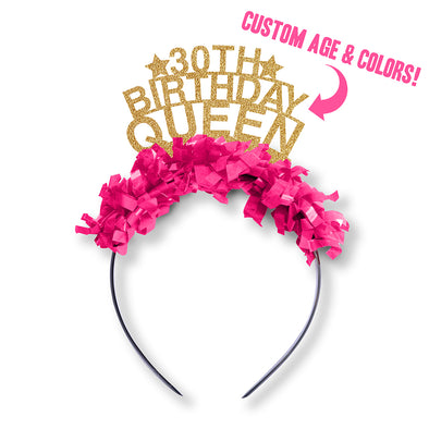 Custom Age Birthday Queen Party Crown