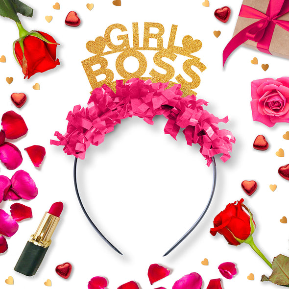 Girl Boss Galentines Party Crown