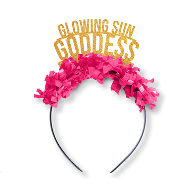 Glowing Sun Goddess Galentines Party Crown