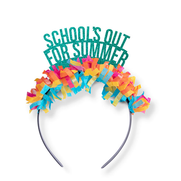 Party Headband Crown that says School's Out for Summer