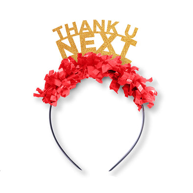 Valentines Day Party Crown Headband that says Thank U Next