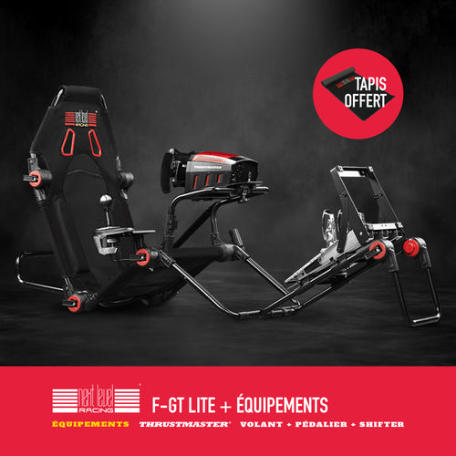 Next Level Racing FGT Lite Cockpit + équipements - Sim Belgium : Simulateur voiture