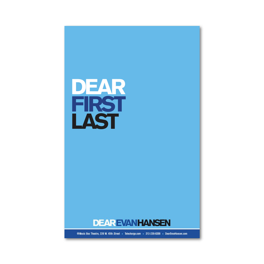 DEAR EVAN HANSEN Custom Poster
