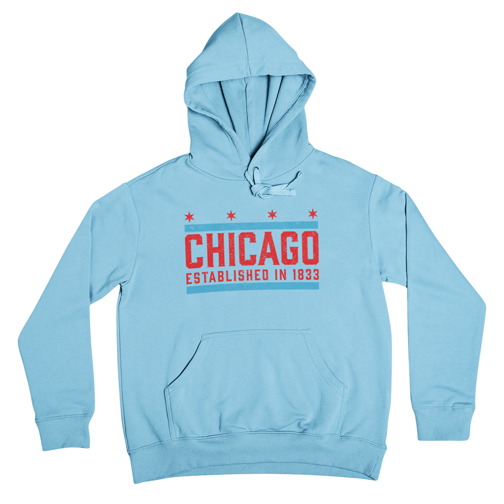Light Blue Chicago 1833 Hoodie