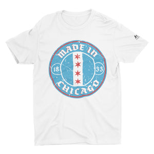 Made In Chicago Badge Short-Sleeve Unisex T-Shirt
