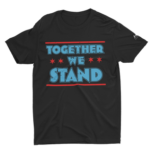 Black shirt with Together We Stand text