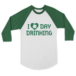 Green raglan with Love Day Drinking