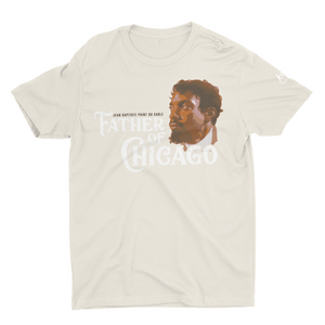 Cream T-Shirt with Jean Baptiste Point Du Sable
