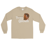 Tan long sleeve shirt with Jean Baptist Dusable