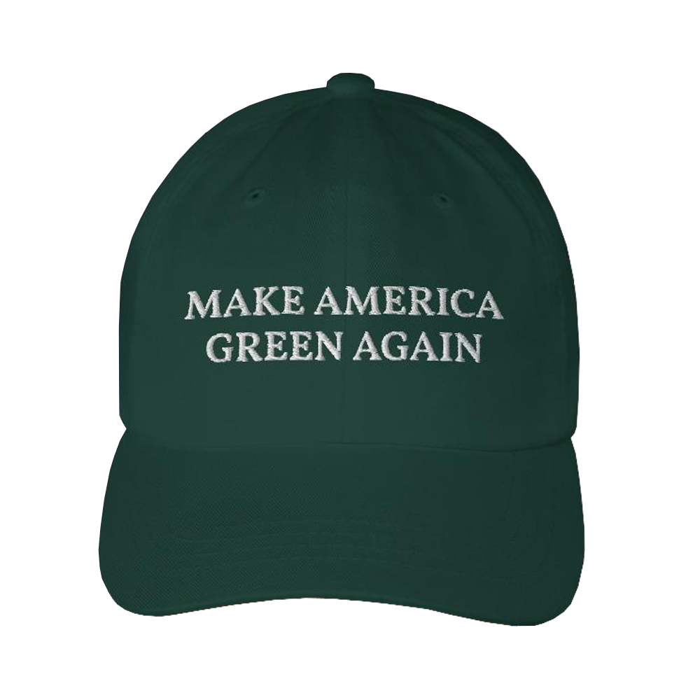 Green Cap with MAGA Make America Green Again