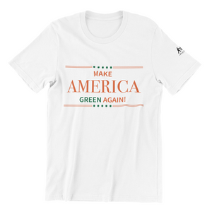 White Make America Green Again tee