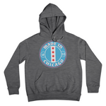 Grey Hoodie with Made In Chicago badge