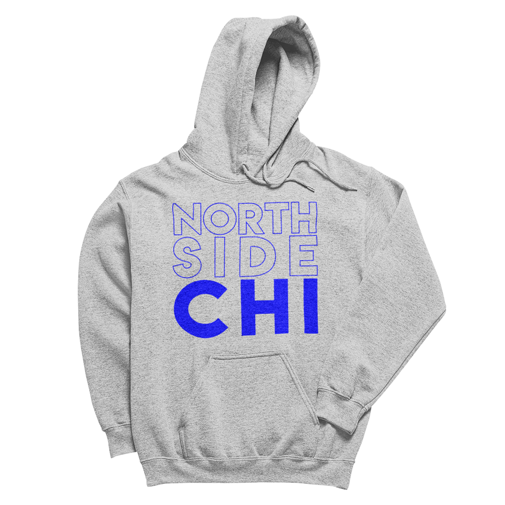 Heath Grey Hoodie with North Side Chicago on front