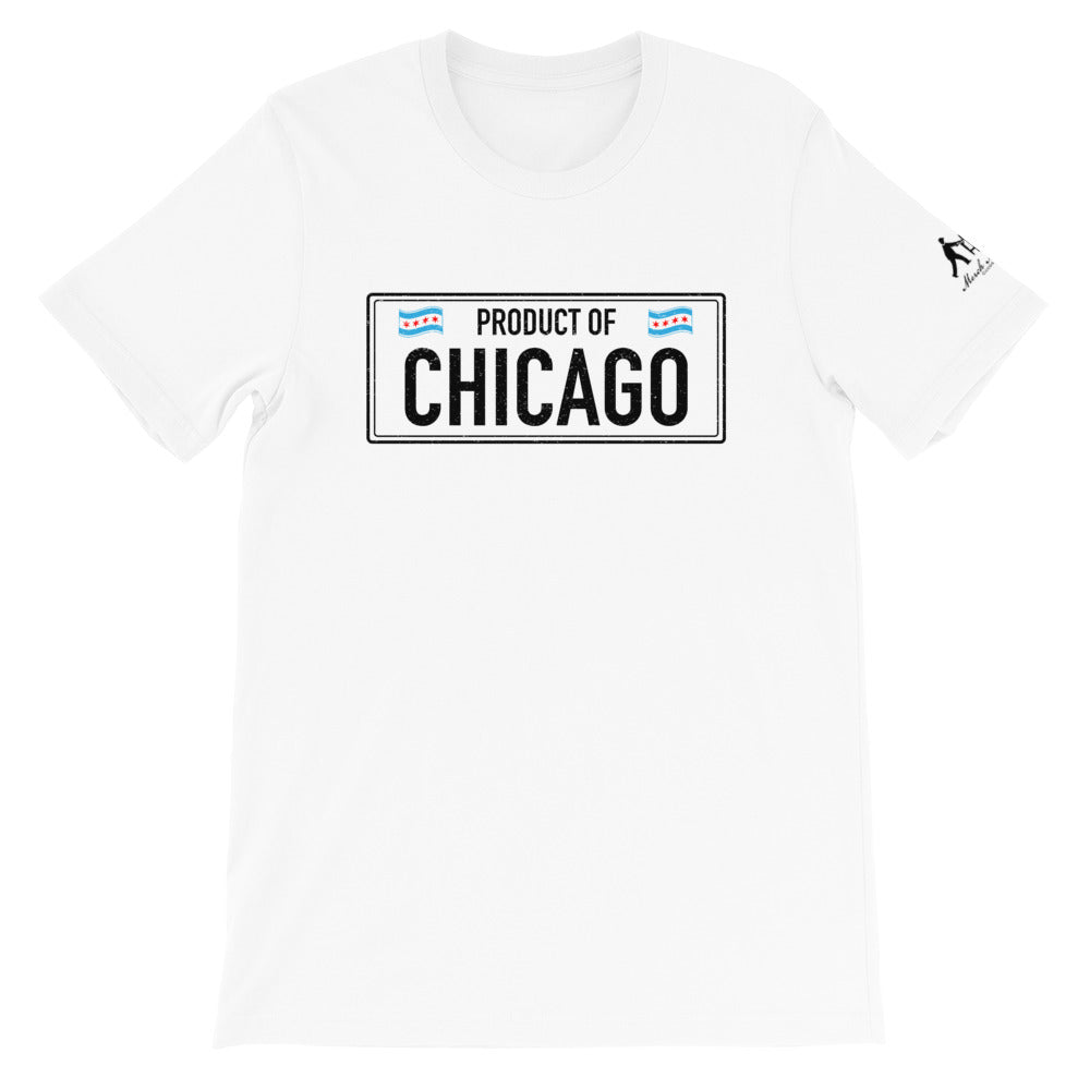 White T-shirt with product of Chicago