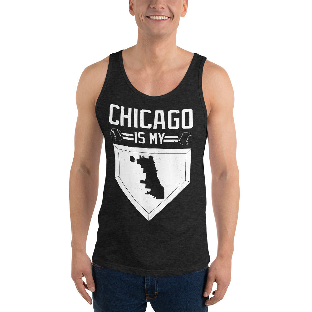 Chicago Is My Home Base Unisex Tank Top