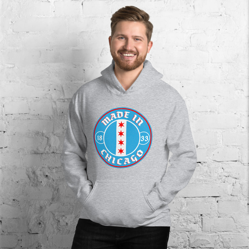 Made In Chicago Badge Unisex Hoodie