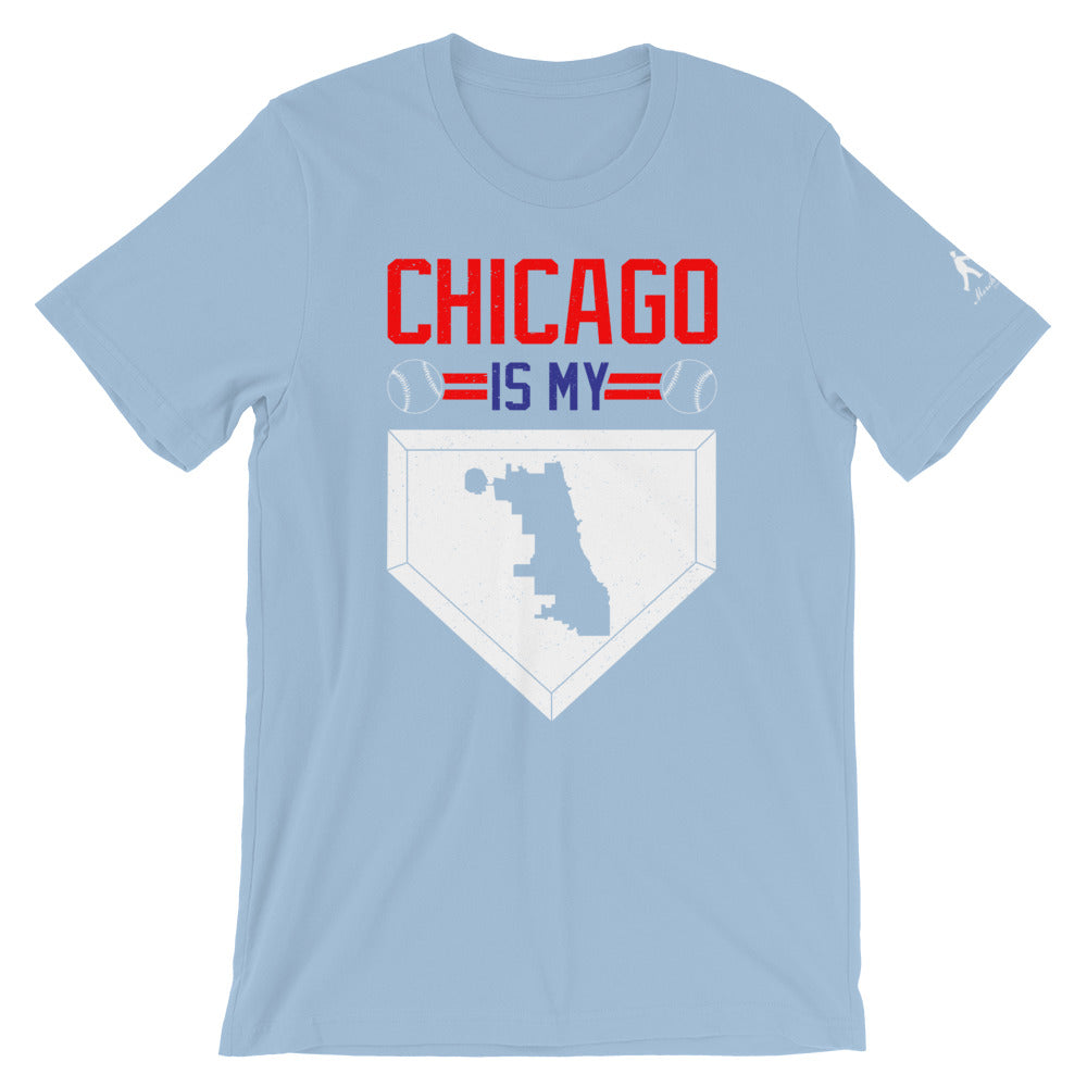 Light Blue Chicago Baseball with Homebase in White