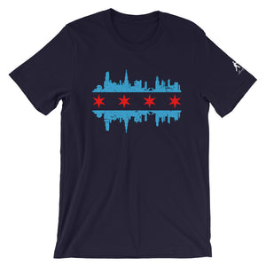 Blue Shirt with Chicago Skyline