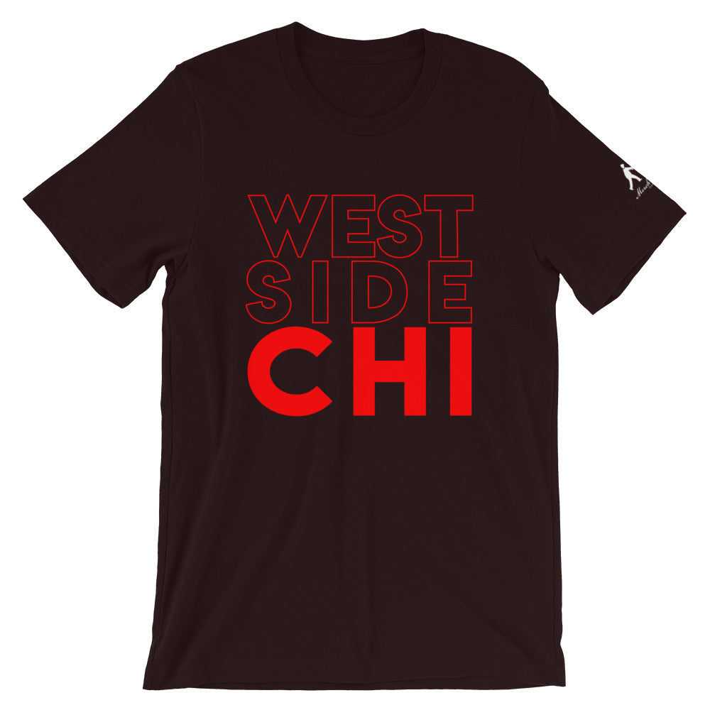 Ox Blood T-shirt with West Side Chi