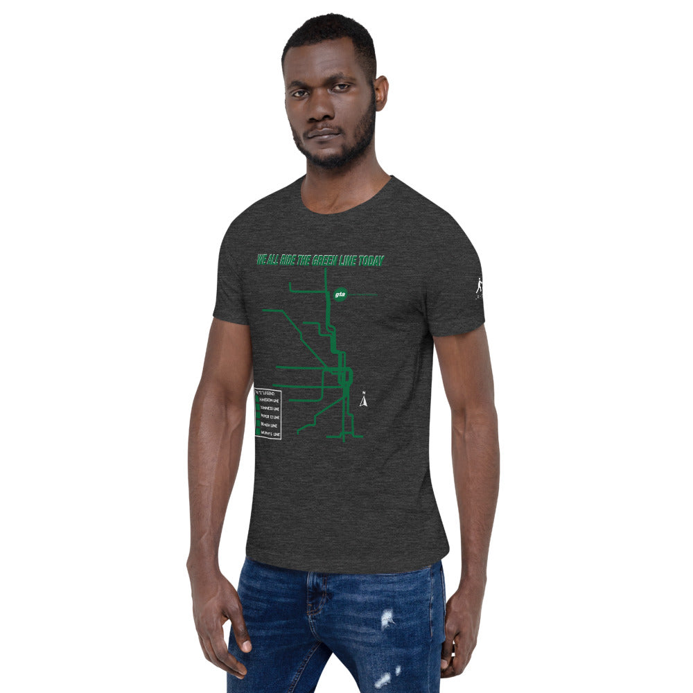 Green Line Short-Sleeve Unisex T-Shirt