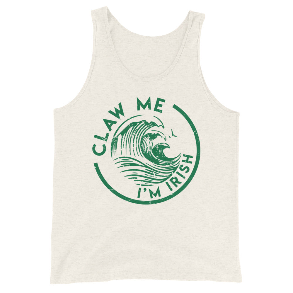 Oatmeal Colored Tank Top St. Patrick's Day Irish in Green