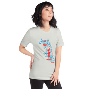 Chicago Nicknames Short-Sleeve Unisex T-Shirt