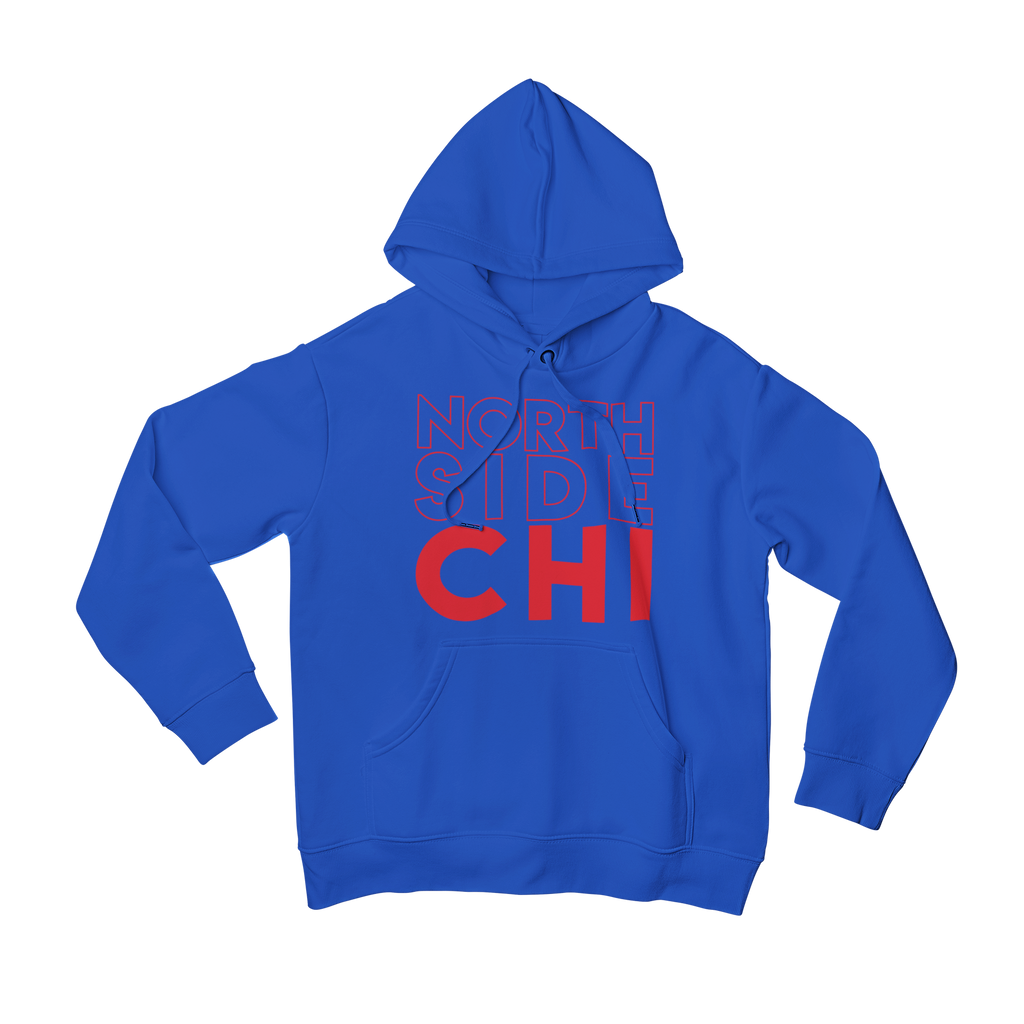 Blue Chicago Cubs Hoodie with Red North Side Chi on front