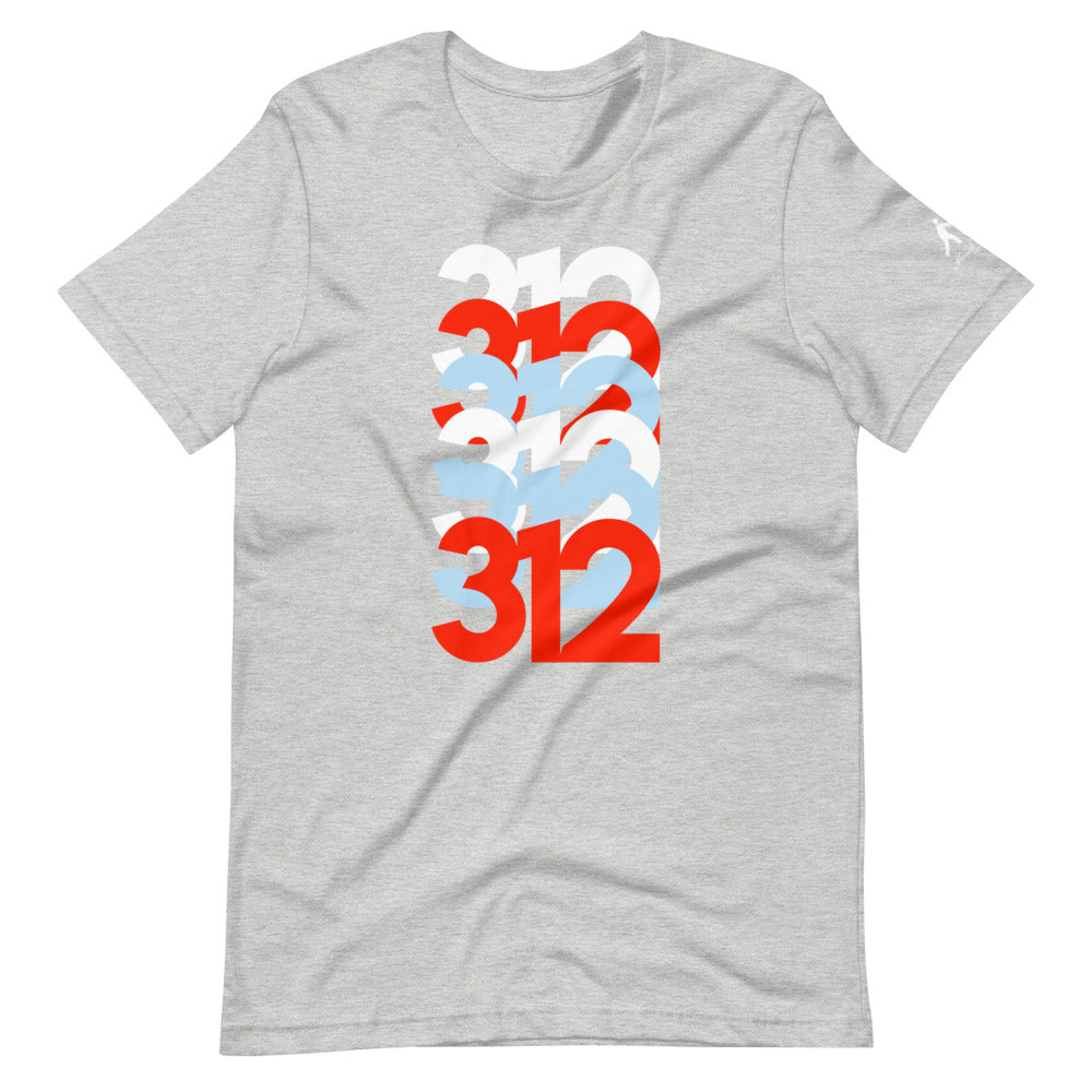 312 Area Code on t-shirt