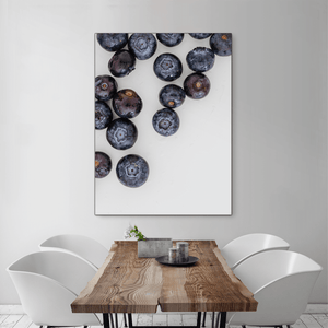 Blueberries 1 - large size - black frame