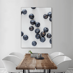 Blueberries 2 - large size - black frame