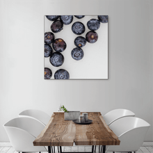 Load image into Gallery viewer, Blueberries 1 - large square size - black frame