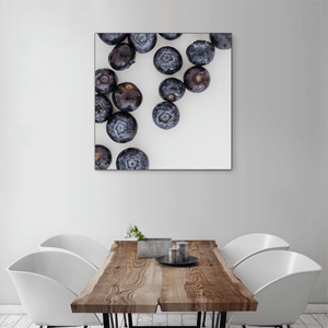 Blueberries 1 - large square size - black frame