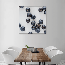Load image into Gallery viewer, Blueberries 2 - large square size - black frame