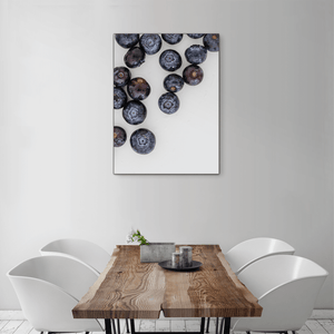 Blueberries 1 - medium size - black frame